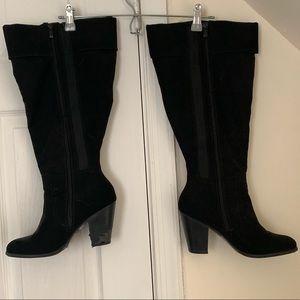 TORRID wide calf faux suede boots